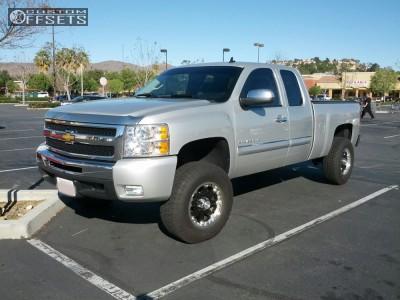 """2011 Chevrolet Silverado 1500 - 17x9 -12mm - Black Rhino Rockwell - Suspension Lift 4"""" - 285/70R17"""