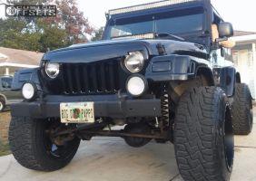 "1999 Jeep Wrangler - 20x14 -76mm - Fuel 531 - Suspension Lift 4"" - 33"" x 12.5"""