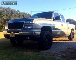 2007 Chevrolet Silverado 1500 Classic - 20x9 27mm - Replica G04 - Leveling Kit - 285/50R20