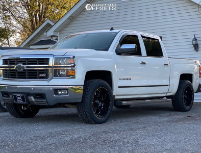 2014 Chevrolet Silverado 1500 - 20x10 -25mm - Ultra Hunter 203 - Stock Suspension - 275/55R20
