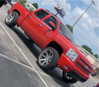 "2012 Chevrolet Silverado 1500 - 22x12 -44mm - Axe Offroad Artemis - Suspension Lift 3"" - 33"" x 12.5"""