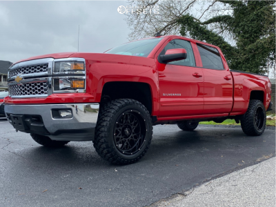 "2015 Chevrolet Silverado 1500 - 20x10 -25mm - Vision Rocker - Suspension Lift 3.5"" - 33"" x 12.5"""