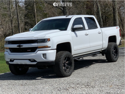 "2016 Chevrolet Silverado 1500 - 20x10 -19mm - Hostile Alpha - Suspension Lift 7"" - 33"" x 12.5"""