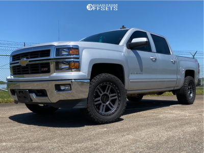 2015 Chevrolet Silverado 1500 - 20x9 0mm - Vision Manx 2 - Leveling Kit - 295/55R20