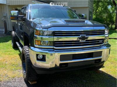 2017 Chevrolet Silverado 2500 HD - 20x10 -25mm - ARKON OFF-ROAD Cleopatra - Leveling Kit - 295/60R20