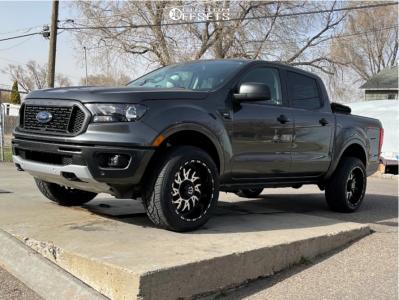 2019 Ford Ranger - 20x10 -25mm - TIS 544mb - Stock Suspension - 265/50R20