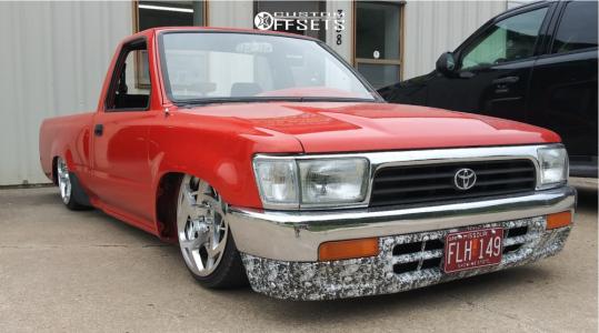 1990 Toyota Pickup - 18x9 32mm - JNC Jnc047 - Air Suspension - 155/8.5R18