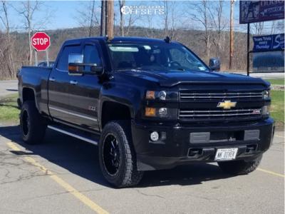 "2016 Chevrolet Silverado 2500 HD - 20x10 -18mm - Fuel Cleaver - Stock Suspension - 35"" x 12.5"""