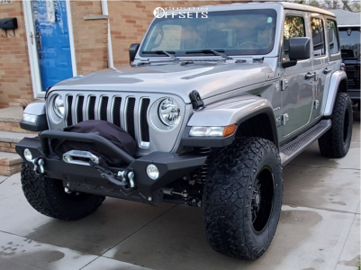 """2019 Jeep Wrangler - 18x9 -12mm - Panther Offroad 580 - Suspension Lift 3.5"""" - 35"""" x 12.5"""""""