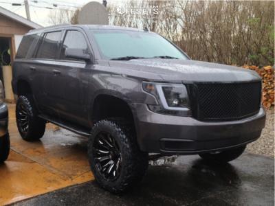 "2015 Chevrolet Tahoe - 22x10 0mm - Fuel Blitz - Suspension Lift 6.5"" - 35"" x 12.5"""