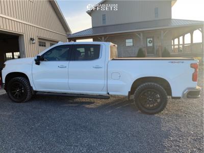 "2019 Chevrolet Silverado 1500 - 20x9 15mm - Fast Hd Throttle - Leveling Kit - 33"" x 12.5"""