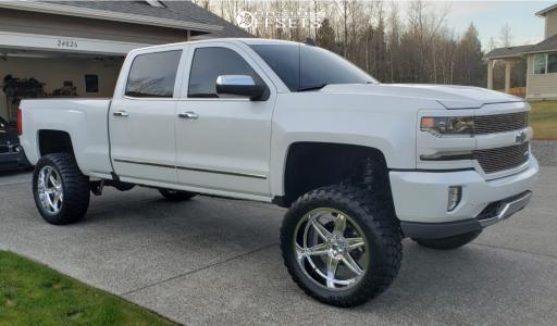 "2017 Chevrolet Silverado 1500 - 22x10 -24mm - Hostile Venom - Suspension Lift 7.5"" - 35"" x 12.5"""