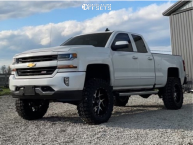 "2016 Chevrolet 1500 - 20x9 -29mm - Vision Sliver - Suspension Lift 7"" - 35"" x 12.5"""