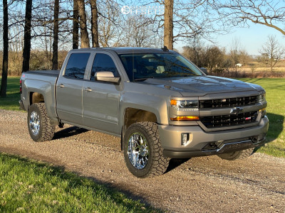 "2017 Chevrolet Silverado 1500 - 20x10 -19mm - Hostile Sprocket H108 - Suspension Lift 3.5"" - 33"" x 12.5"""