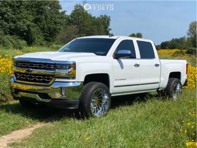 "2017 Chevrolet Silverado 1500 - 22x12 -51mm - ARKON OFF-ROAD Caesar - Leveling Kit - 33"" x 12.5"""