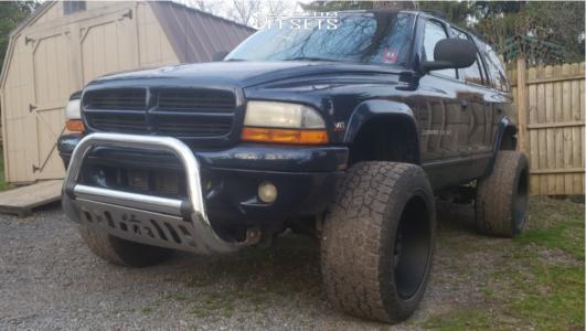 2000 Dodge Durango - 20x12 -51mm - Vision Widow - Leveling Kit & Body Lift - 305/55R20