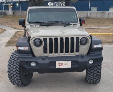 "2020 Jeep Gladiator - 17x10 -44mm - Black Rhino Armory - Suspension Lift 3.5"" - 35"" x 12.5"""