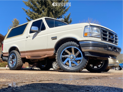 """1995 Ford Bronco - 20x10 -25mm - ARKON OFF-ROAD Lincoln - Leveling Kit - 33"""" x 12.5"""""""