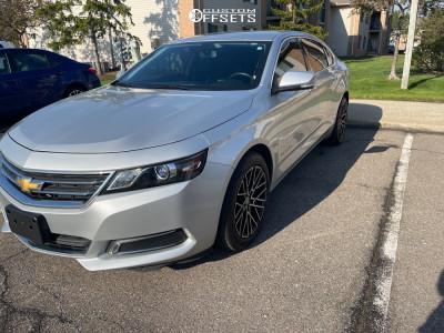 2016 Chevrolet Impala - 18x8.5 35mm - Velocity Vw28 - Stock Suspension - 235/50R18