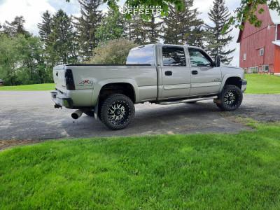 """2005 Chevrolet Silverado 2500 HD - 20x10 -25mm - TIS 544MB - Suspension Lift 3.5"""" - 33"""" x 12.5"""""""