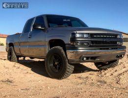 "2001 Chevrolet Silverado 1500 - 16x8.5 -6mm - Level 8 Strike 8 - Suspension Lift 4.5"" - 295/75R16"