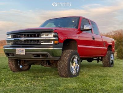 """2000 Chevrolet Silverado 1500 - 20x12 -44mm - Gear Big Block - Suspension Lift 5"""" - 33"""" x 12.5"""""""