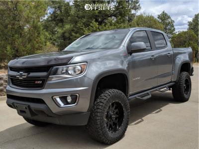 """2018 Chevrolet Colorado - 18x9 -12.7mm - Raceline Shift - Suspension Lift 6"""" - 33"""" x 12.5"""""""