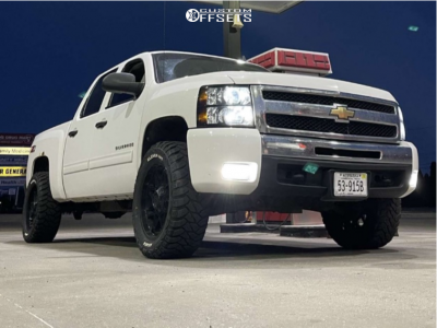 "2011 Chevrolet Silverado 1500 - 20x10 -24mm - Gear Off-Road Crossbow - Stock Suspension - 33"" x 12.5"""