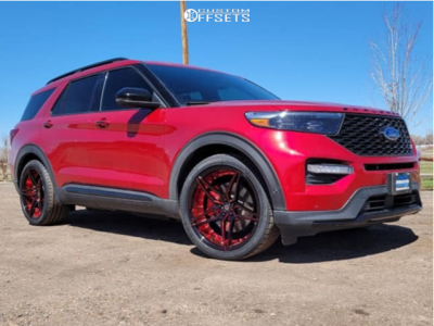 2021 Ford Explorer - 22x10.5 40mm - Marquee Luxury M3259 - Lowered on Springs - 305/35R22