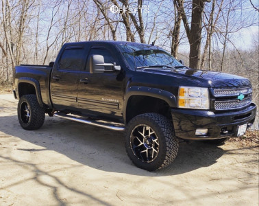 "2013 Chevrolet Silverado 1500 - 20x10 -29mm - Vision 360 - Suspension Lift 4"" - 33"" x 12.5"""