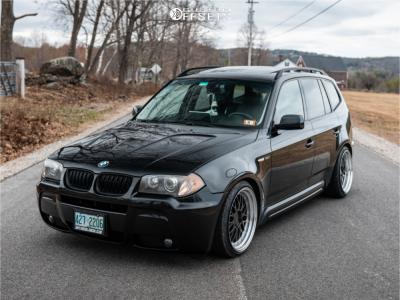 2006 BMW X3 - 19x9.5 22mm - ESR Sr05 - Coilovers - 225/35R19