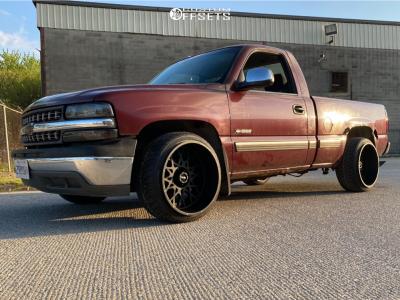 2002 Chevrolet Silverado 1500 - 22x12 -51mm - Vision Rocker - Stock Suspension - 265/35R22