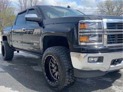 "2015 Chevrolet Silverado 1500 - 20x12 -44mm - TIS 547bm - Suspension Lift 3.5"" - 33"" x 12.5"""