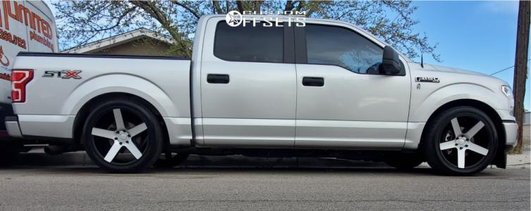 2018 Ford F-150 - 22x9.5 0mm - DUB Baller - Lowered 3F / 5R - 285/9.5R22
