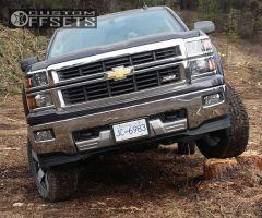 "2015 Chevrolet Silverado 1500 - 20x8.5 10mm - Xd Xd775 - Suspension Lift 4"" - 275/65R20"