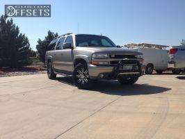 2002 Chevrolet Suburban - 17x8 0mm - Helo HE835 - Stock Suspension - 265/75R17