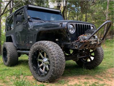 """1997 Jeep TJ - 22x12 -44mm - Fuel Maverick D260 - Suspension Lift 6"""" - 37"""" x 13.5"""""""