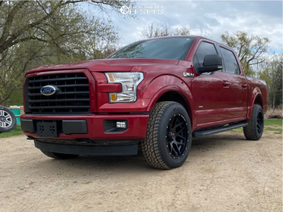 "2017 Ford F-150 - 20x10 -12mm - Wicked Offroad W903 - Stock Suspension - 33"" x 12.5"""