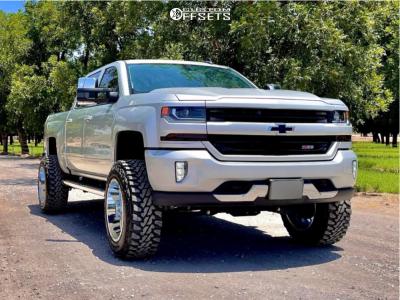 "2016 Chevrolet Silverado 1500 - 20x12 -44mm - TIS 544C - Suspension Lift 6.5"" - 35"" x 12.5"""