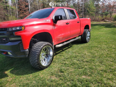 "2019 Chevrolet Silverado 1500 - 24x12 -51mm - Vision Rocker - Suspension Lift 6"" - 35"" x 13.5"""