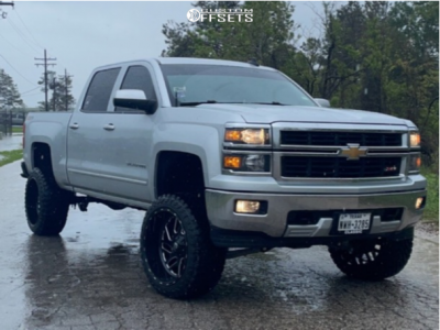 "2015 Chevrolet Silverado 1500 - 22x12 -44mm - Fuel Triton - Suspension Lift 6.5"" - 33"" x 12.5"""