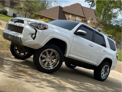 2014 Toyota 4Runner - 20x10 -19mm - Gear Off-Road Big Block - Leveling Kit - 275/55R20