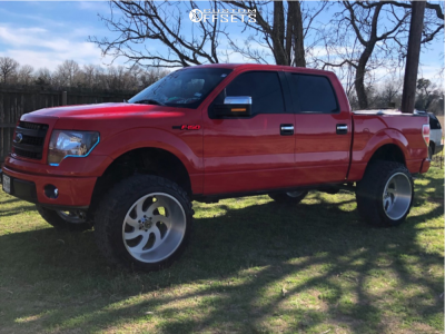 """2012 Ford F-150 - 24x14 -76mm - Xtreme Force Xf1 - Suspension Lift 7"""" - 37"""" x 13.5"""""""