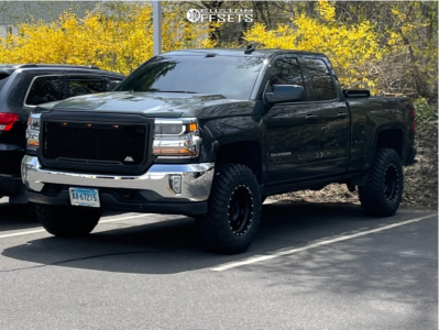 "2018 Chevrolet Silverado 1500 - 17x9 -12mm - Method The Standard - Leveling Kit & Body Lift - 33"" x 12.5"""