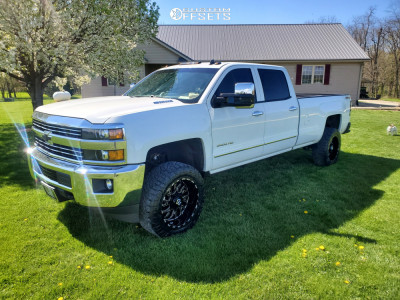 "2015 Chevrolet Silverado 3500 HD - 20x10 -25mm - TIS 544bm - Leveling Kit - 33"" x 11.5"""