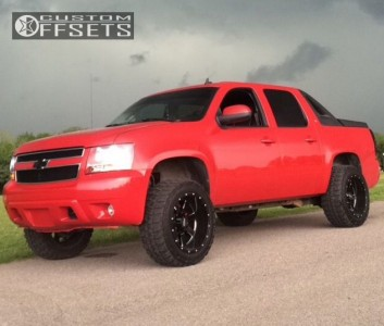 """2007 Chevrolet Avalanche - 20x12 -44mm - Moto Metal MO962 - Leveling Kit - 33"""" x 12.5"""""""
