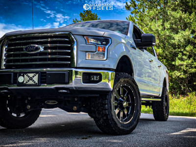 "2016 Ford F-150 - 20x10 -24mm - Moto Metal Mo962 - Suspension Lift 6"" - 35"" x 13.5"""