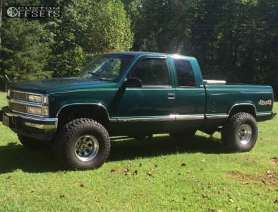 "1995 Chevrolet K1500 - 15x10 -45mm - Mickey Thompson Classic Iii - Suspension Lift 6"" - 35"" x 12.5"""