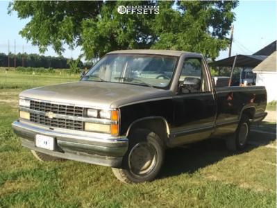 "1988 Chevrolet K2500 - 16x9 0mm - Chevy Rally - Stock Suspension - 27"" x 9.5"""