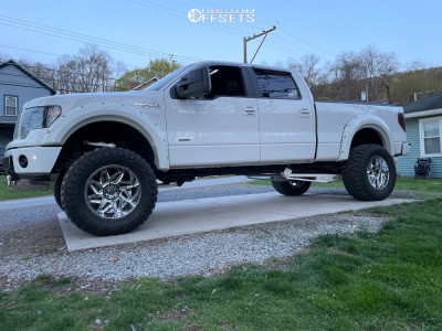 """2013 Ford F-150 - 20x12 -51mm - Vision Spider - Suspension Lift 8.5"""" - 375/55R20"""